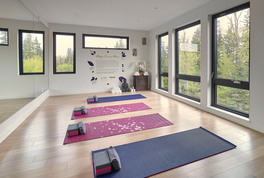 2019 Professional Builder Design Awards Gold Infill common space yoga room
