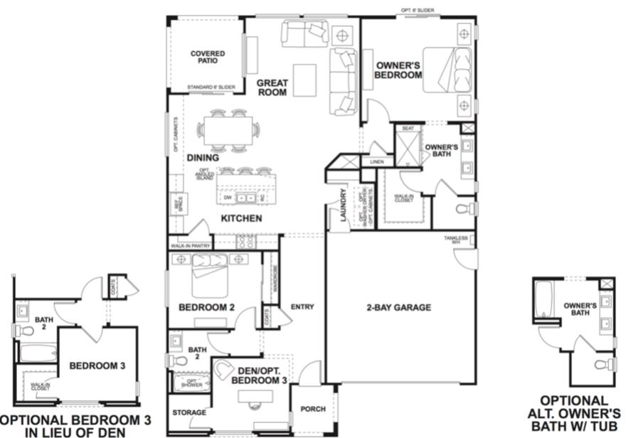 2019 Professional Builder Design Awards Gold New Community Altis model floor plans