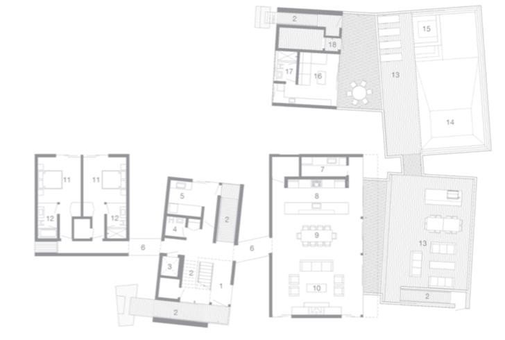 2019 Professional Builder Design Awards Gold Custom Home Kiht han first floor plan