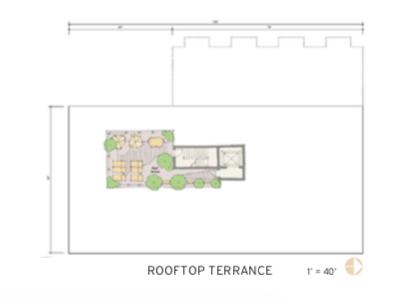 2019 Professional Builder Design Awards Gold Multifamily 10 Eleven rooftop plan