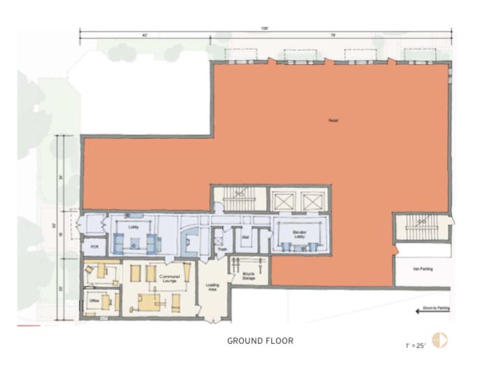 2019 Professional Builder Design Awards Gold Multifamily 10 Eleven ground floor plan