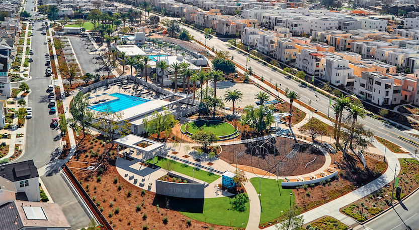 2019 Professional Builder Awards honorable mention new community Great Park aerial view