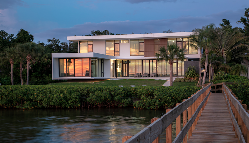 2019 Professional Builder Design Awards Project of the Year Gold view from the water
