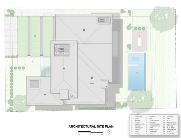 2019 Professional Builder Design Awards Silver Custom Home site plan