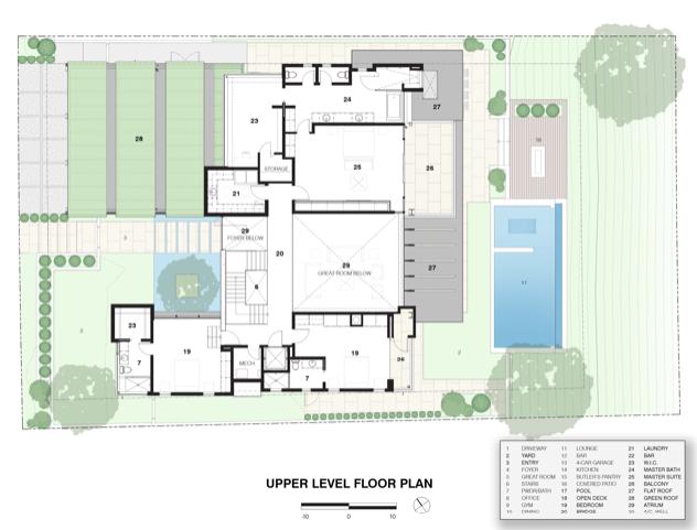 2019 Professional Builder Design Awards Silver Custom Home upper level plan