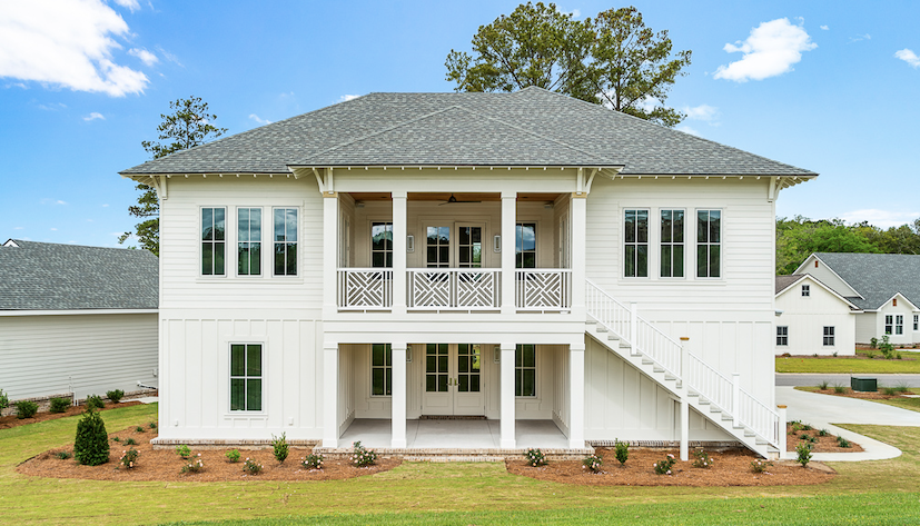 2019 Professional Builder Design Awards Silver Single Family 2001 to 3100 sf rear elevation