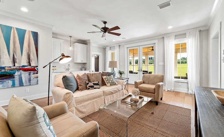 2019 Professional Builder Design Awards Silver Single Family 2001 to 3100 sf living room