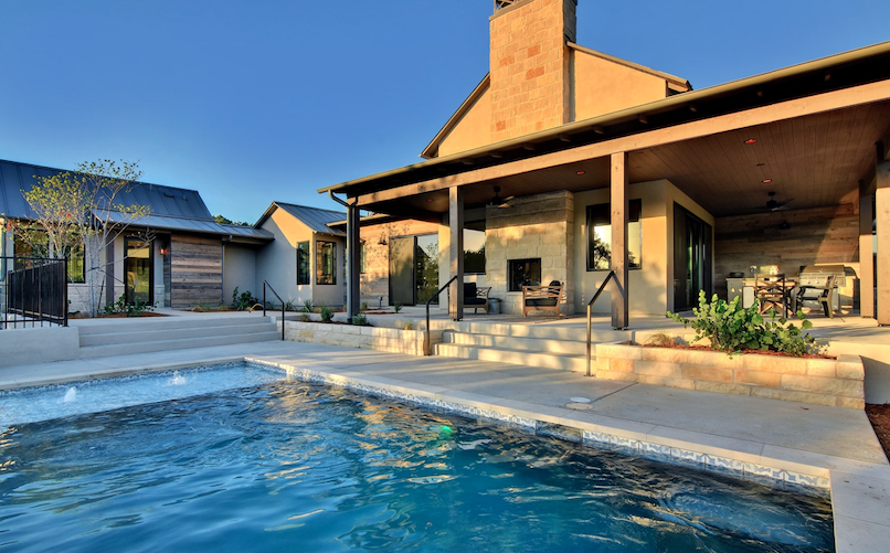 2019 Professional Builder Design Awards Silver Single Family 2001 to 3100 sf outdoor living with pool