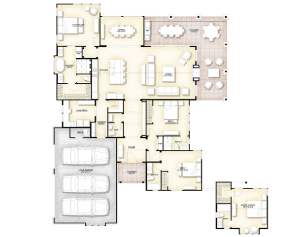 2019 Professional Builder Design Awards Silver Single Family 2001 to 3100 sf floor plan