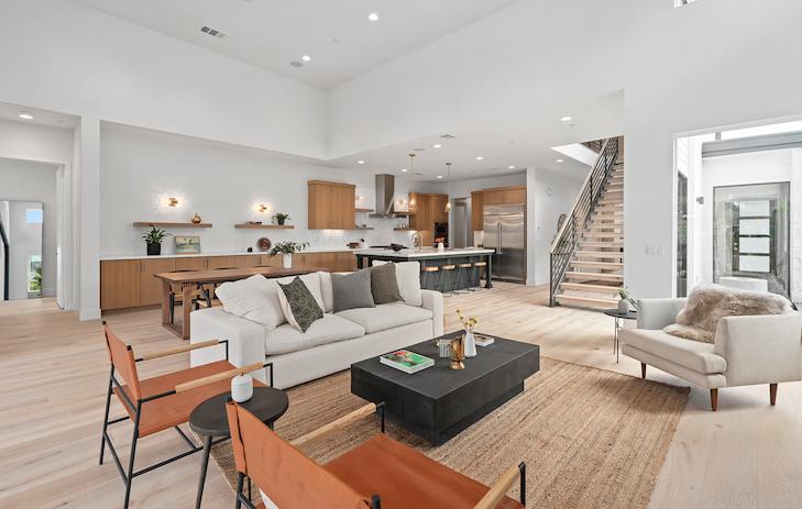 2019 Professional Builder Design Awards Silver Single Family over 3100 sf Miraval II interior living