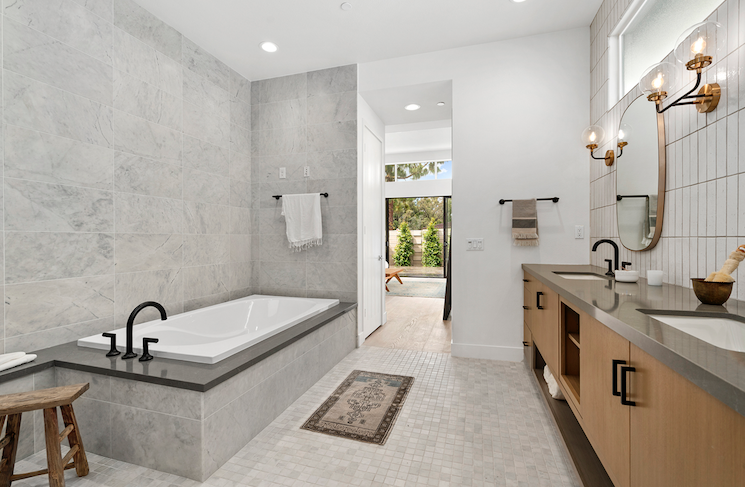2019 Professional Builder Design Awards Silver Single Family over 3100 sf Miraval II bathroom