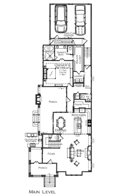 2019 Professional Builder Design Awards Silver single family over 3100 sf first floor plan
