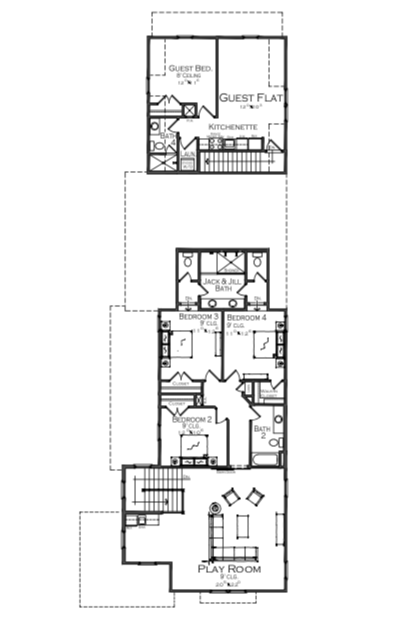 2019 Professional Builder Design Awards Silver single family over 3100 sf second floor plan