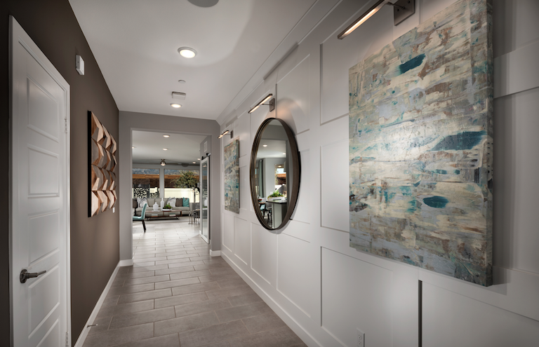 2019 Professional Builder Design Awards Silver Single Family home under 2000sf interior hallway