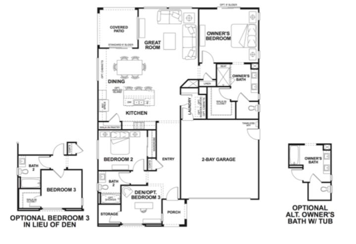 2019 Professional Builder Design Awards Silver Single Family home under 2000sf Vita floor plan