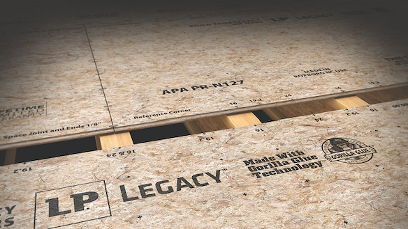2019 top 100 products-structural-LP Legacy OSB subfloor