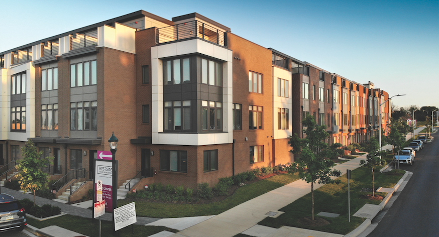 Westside at Shady Grove by EYA provides a dense, walkable development with an affordable component.