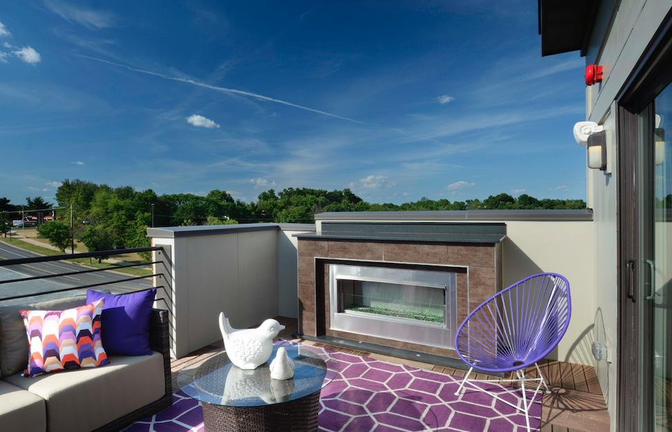EYA's Westside at Shady Grove rooftop terrace