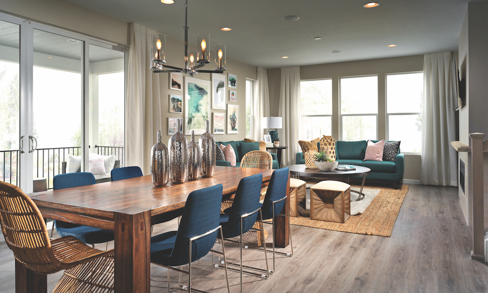 Shea Homes' Crescendo Collection at Central Park interior living spaces