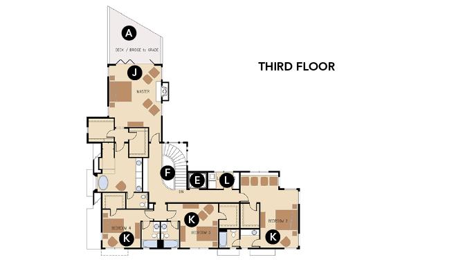 House Review Luxury Homes EDI International_Silver Lane Third Floor Plan