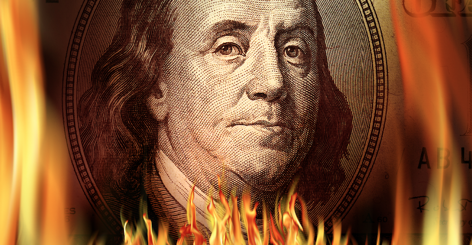 money on fire_insanity_financial waste_Lean process_eliminate waste in home building