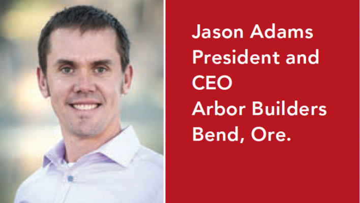 Jason Adams is the CEO of Arbor Builders, which uses data analytics to improve operations