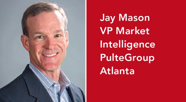 Jay Mason is PulteGroup's VP of market intelligence