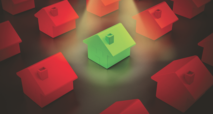 One house stands out from the others, just as builders with good business practices stand out
