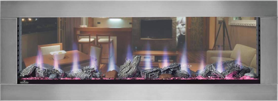 Napoleon Clearion see-through fireplace