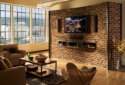 Product of the Week: MediaWall built-in stone wall