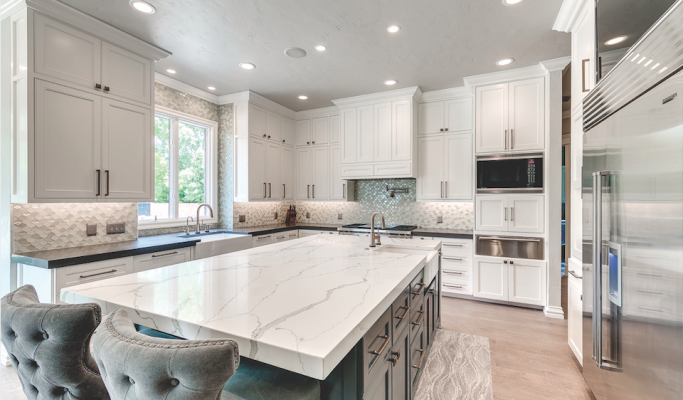 Architectural Surfaces Group MetroQuartz surfacing for kitchen countertops
