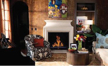 Astria Montebello fireplace