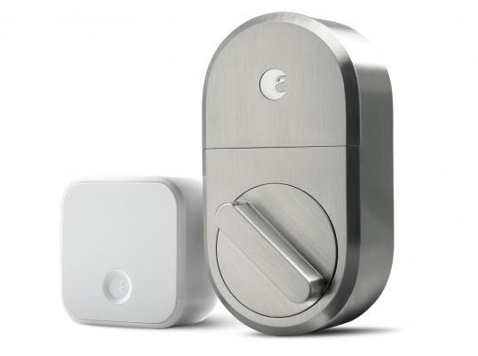 August smart lock in satin nickel finish