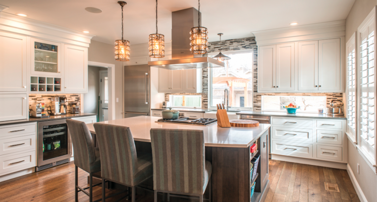 Perfect Pendants, Recessed Downlights, Under Cabinet Fixtures, And Big Windows  Light Up This Kitchen. A Backsplash Window Spills Daylight Onto Countertops  And ...