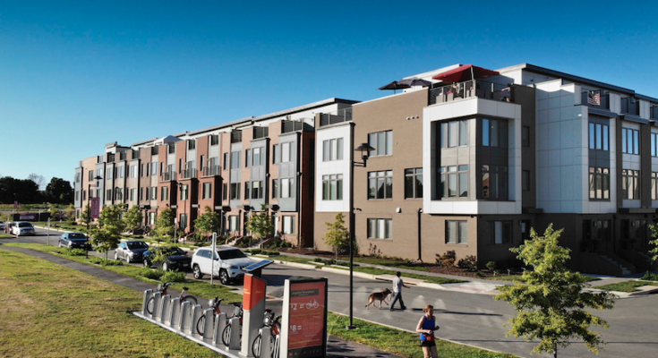 EYA's Westside at Shady Grove Metro, in Rockville, Md., is a dense, walkable neighborhood with a significant affordable-housing component.