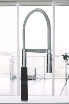 Franke's Crystal Collection is billed as a state-of-the-art line integrating high-quality stainless steel and glass with a sleek base