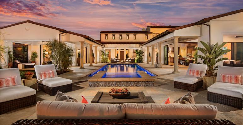 The Dahlin Groupu0027s Hacienda Style Artesian Estates Plan 3 Has An Open Floor  Plan That Emphasizes Indoor/outdoor Connection.
