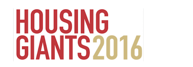 Housing Giants 2016 logo for the annual ranked list