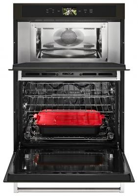 In celebration of its centennial year, KitchenAid has entered the smart home category with its Smart Oven+ with Powered Attachments. The Consumer Electronics Show Innovation Award winner features three interchangeable attachments to increase functionality, allowing for grilling, baking, and steaming in one appliance. The Smart Oven+ is available in three models: combination, single, and double; each features a glass-touch LCD display, operable through the KitchenAid app and Google Assistant, and compatible