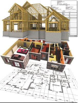 Building information modeling (BIM) at work in a 3D home illustration
