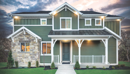new-home sales-example of new home (Photo: Courtesy Ivory Homes)