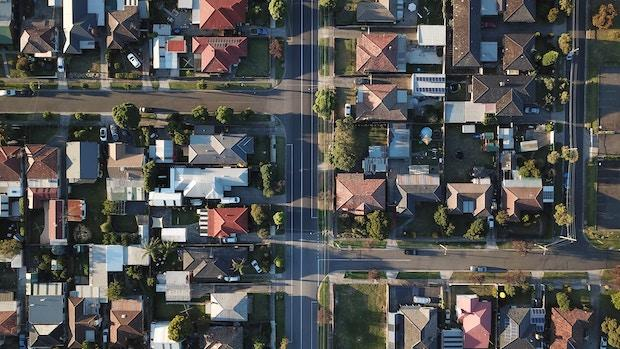 Aerial view of houses-housing market conditions update