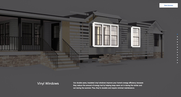 Deconstructed image of a Clayton Homes house
