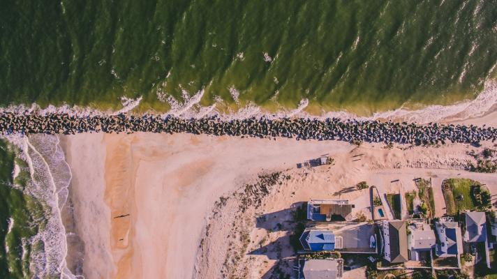 Aerial view of neighborhood, Florida