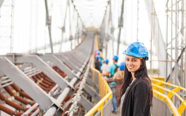 Woman on build site | Construction industry has one of the biggest labor shortages, and more women are needed in the field