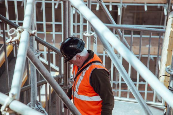 construction laborer on jobsite