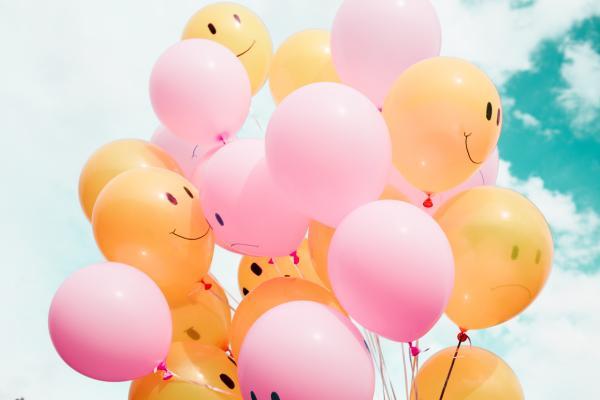 smiling balloons