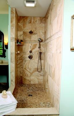 Tiled shower assembly