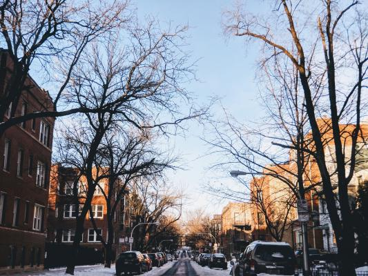 Chicago residential street | A new study of Chicago upzoning published in the journal Urban Affairs Reviewfinds that the changes led to higher home prices, and no noticeable impact on local housing stock.