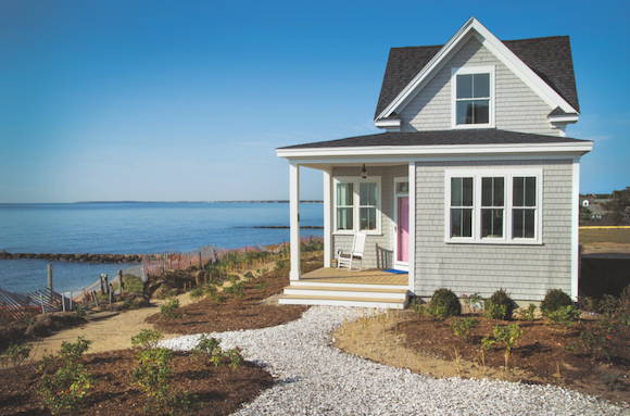The cottages of Heritage Sands, in Cape Cod, Mass., feature Eastern white cedar shingles for an authentic Cape Cod feel.